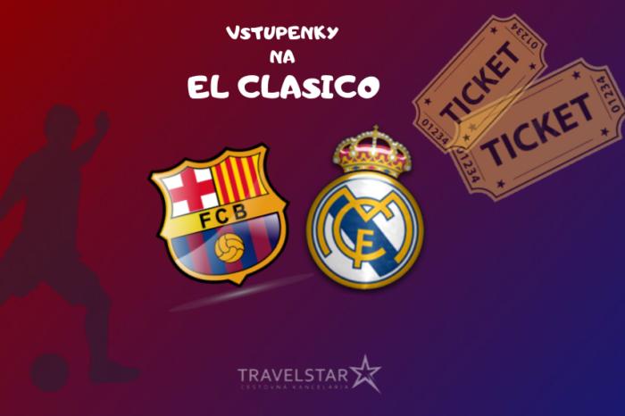 El Clasico: FC Barcelona – Real Madrid (samostatné vstupenky)