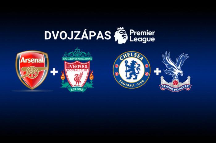 Dvojzápas: Arsenal – Liverpool | Chelsea – Crystal Palace
