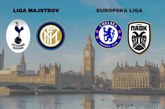 Dvojzápas: Tottenham-Inter Miláno; Chelsea – PAOK