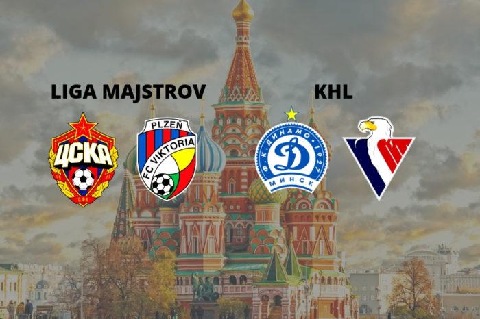 Dvojzápas: Liga majstrov + KHL v Moskve