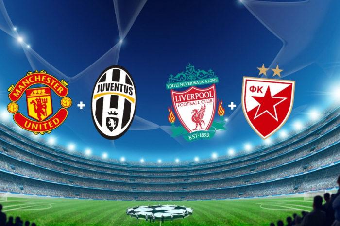 Liga majstrov: Man.Utd-Juventus, Liverpool-Cervena Zvezda