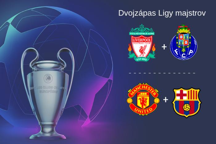 Liga majstrov: Fc Liverpool-Porto   Man.Utd-FC Barcelona